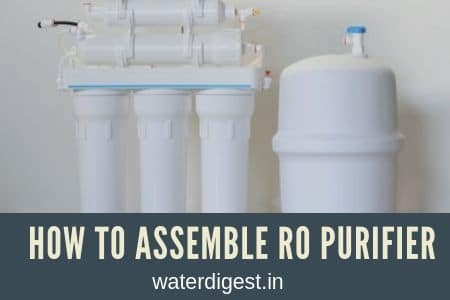 how to assemble RO water purifier